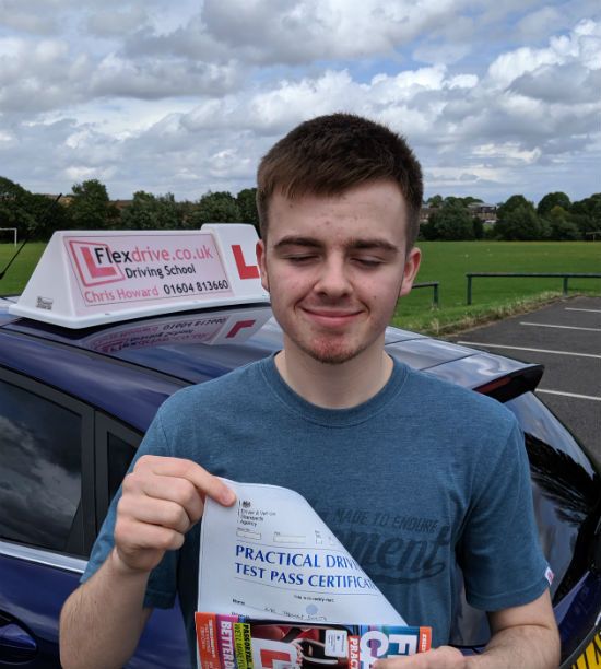 Driving Lessons in Wellingborough | Tom Smith Passed 1st time with flexdrive Driving School