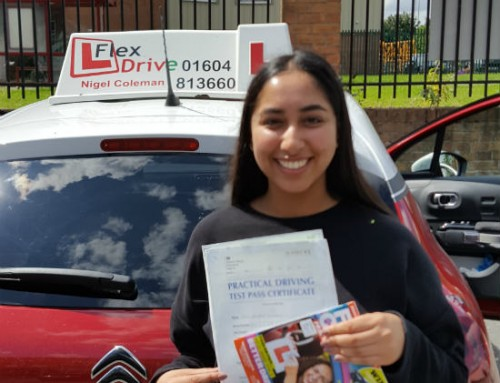 Zahrah Hussain Passes | 3 Driving Faults | Driving lessons in Northampton | 08-08-2019
