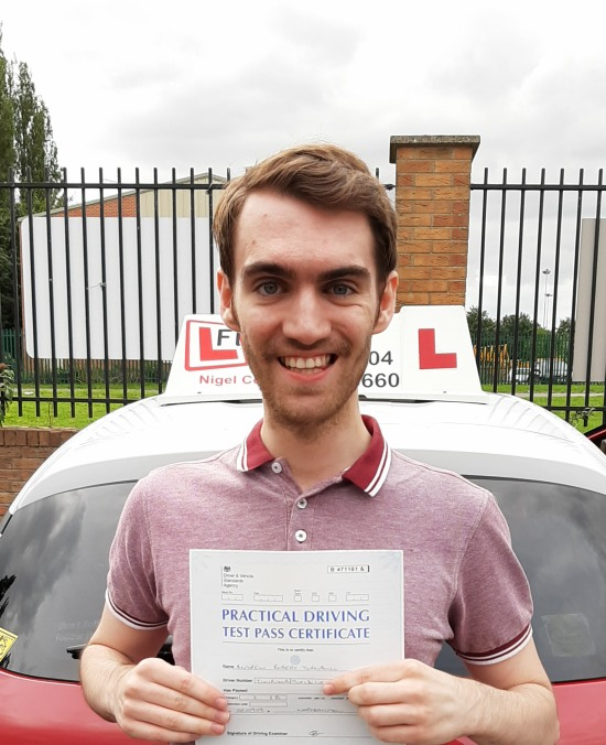 Driving Lessons in Northampton | Andrew passes with Flexdrive Driving school