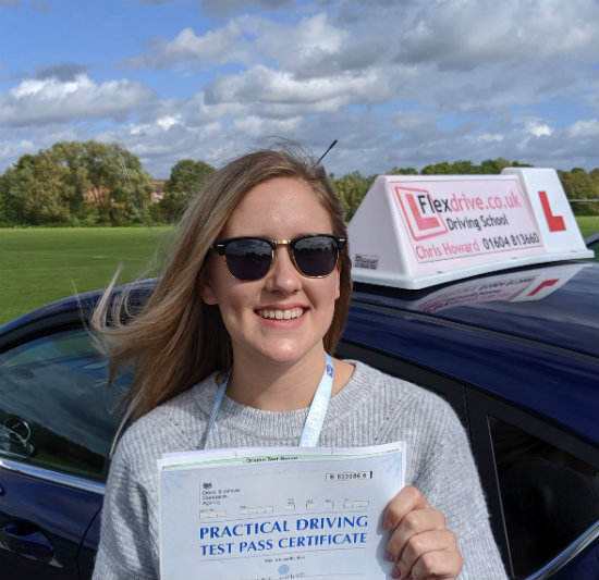 Driving Lessons in Wellingborough | Jemima passed 1st time with Flexdrive Driving School