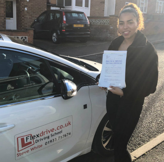 Driving Lessons in Wellingborough | Kerryn passed with Flexdrive driving school