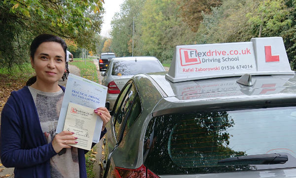Aoutomatic Driving Lessons in Corby | Mariana passes 1st time with Flexdrive Driving School