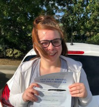 Driving Lessons in Kettering | Nina passes with Flexdrive Driving School