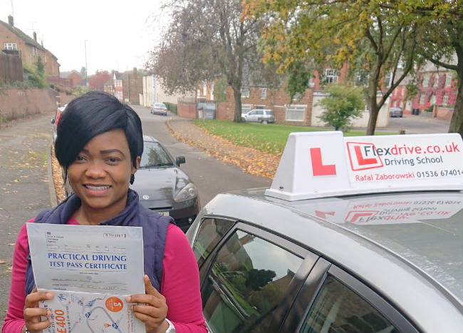 Automatic Driving Lessons in Wellingborough | Abi passed with Flexdrive Driving school