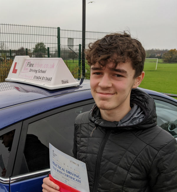 Driving Lessons in Wellingborough   Chaz passes with Flexdrive Driving School