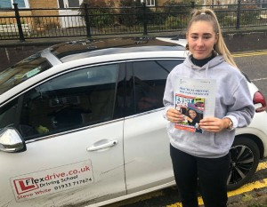 Driving Lessons in Wellingborough | Chelsea passed 1st tme with Flexdrive Driving School
