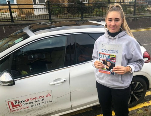 Chelsea Morris Passes 1st time | Driving lessons in Wellingborough and Rushden | 19-11-2019