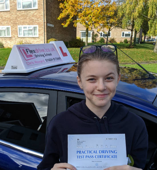 Driving Lessons in Wellingborough | Eleanor passes 1st time with Flexdrive Driving School