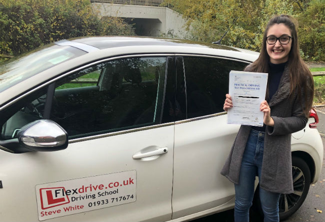 Driving Lessons in Wellingborough | Keah passed with Flexdrive driving School