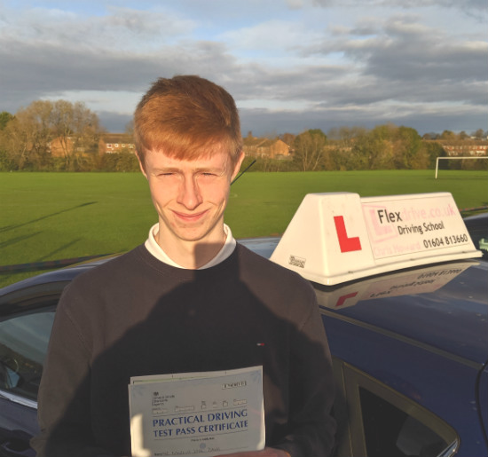 Driving Lessons in Wellingborough | Marcus passd 1st time with Flexdrive Driving School