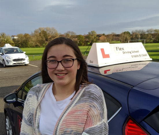 Driving Lessons in Wellingborough | Melanie passed 1st time with Flexdrive Driving School