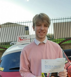 Driving Lessons in Northampton | Will passed with 0 faults with Flexdrive Driving School