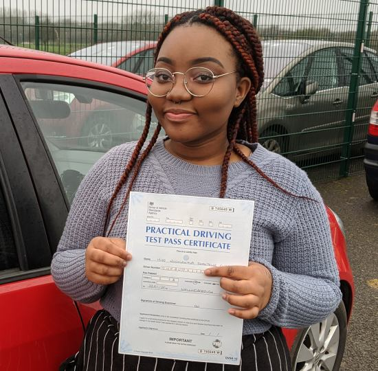 Automatic Driving Lessons in Wellingborough | Shantelle passsed with Flexdrive Driving School