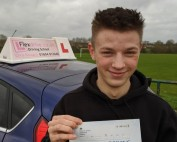 Driving Lessons in Wellingborough   Caine passe with Flexdrive Driving School