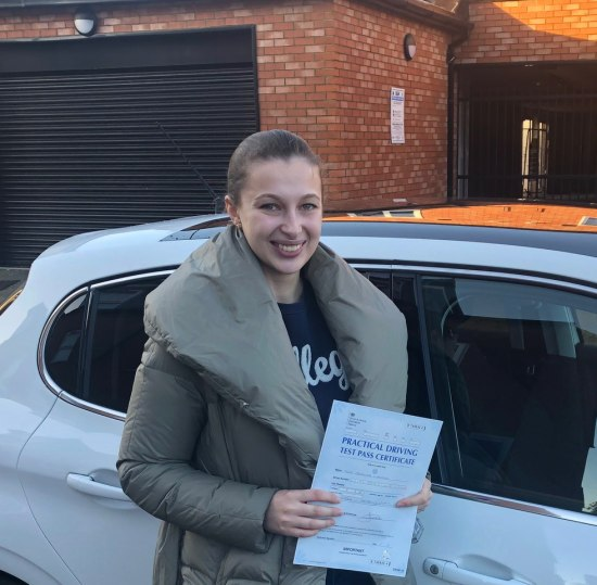 Driving Lessons in Kettering | Cristina passed with Flexdrive Driving School