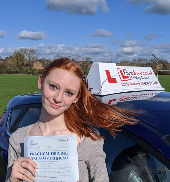Driving Lessons in Wellingborough   Niamh passed with Flexdrive Driving School