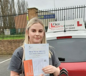 Driving Lessons in Wellingborough | Georgia passes 1st time with Flexdrive Driving School