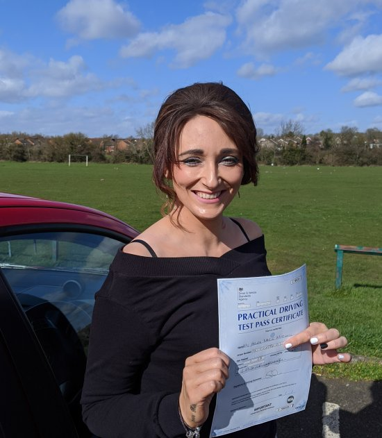Automatic Driving Lessons in Wellingborough   Helen passed her driving test with Flexdrive Driving School