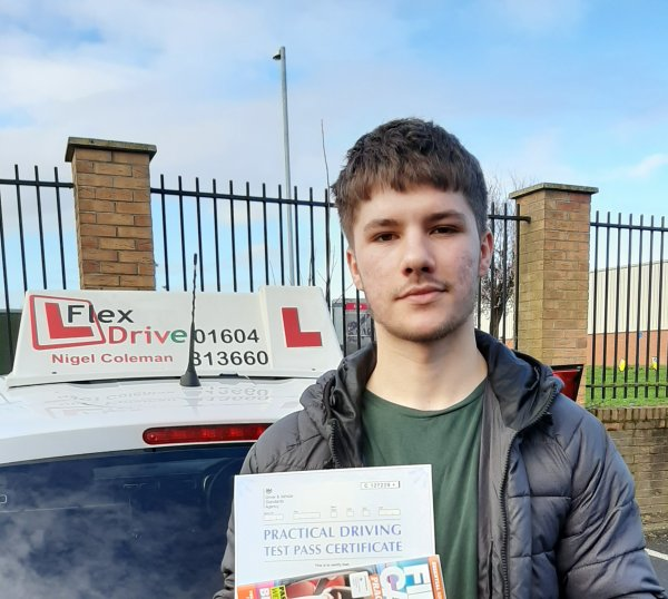 Driving Lessons Northampton | Ryan passed with Flexdrive Driving School