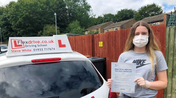 Driving Lessons in Kettering | Shannon passed with Flexdrive Driving School