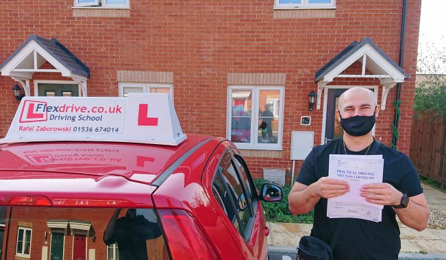 Automatic Driviving Lessons in Kettering and corby | Dominik passed with Flexdrive Driving School