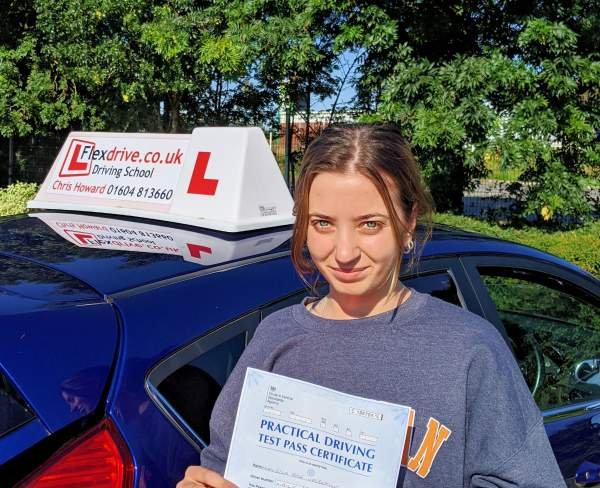 Driving Lessons in Wellingborough | Ella passes with Flexdrive Driving School