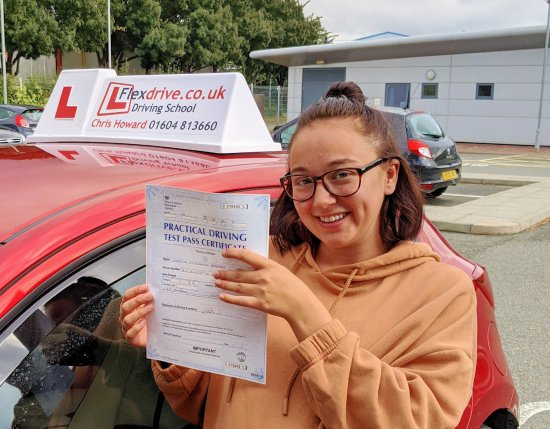 Automatic Driving Lessons in Kettering | Sophie passed with Flexdrive Driving School