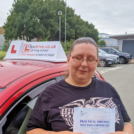 automatic Driving Lessons Kettering | Stacey passed with Flexdrive Driving School