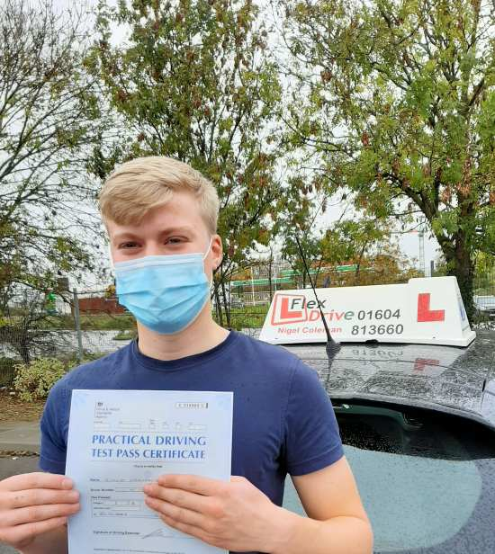 Driving Lessons in Kettering | Rob passed 1st time with Flexdrive Driving School