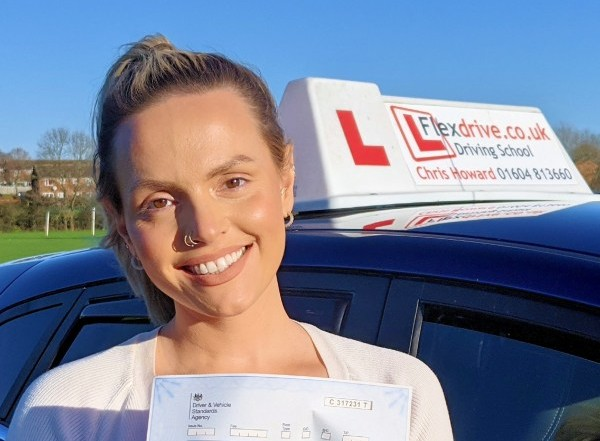 Driving Lessons in Wellingborough | Fran Passed with Flexdrive Driving School