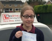 Driving Lessons in Rushden | Rachel capper passes 1st time with Flexdrive Driving School