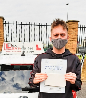 Driving Lessons Northampton | Jack passes 1st time with Flexdrive Driving School