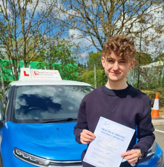 Driving Lessons in Kettering   Ben passed with Flexdrive Driving School