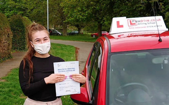 Automatic Driving Lessons in Kettering | Charlotte passed with Flexdrive Driving School