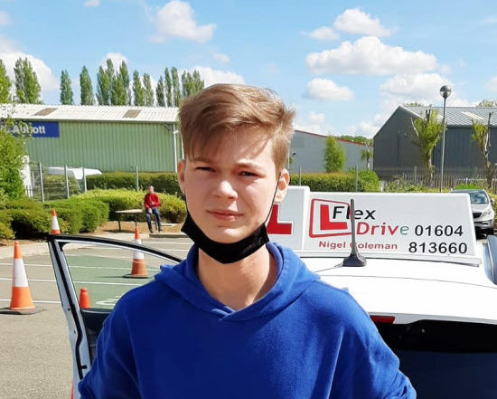 Driving Lessons in Kettering   Harry passed 1st time with Flexdrive Driving School