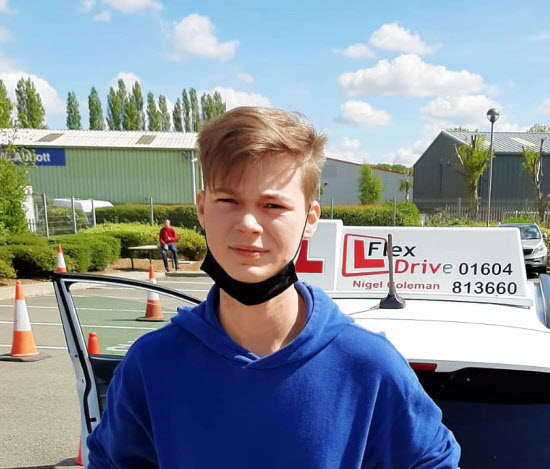 Driving Lessons in Kettering | Harry passed 1st time with Flexdrive Driving School