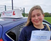Driving Lessons in Wellingborough and Northampton | Immy passed 1st time with Flexdrive Driving School