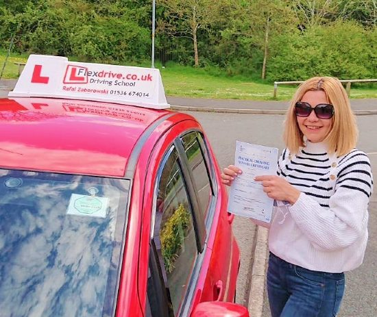 Automatic Driving Lessons is Kettering and Corby | Marina passed with Flexdrive Driving School