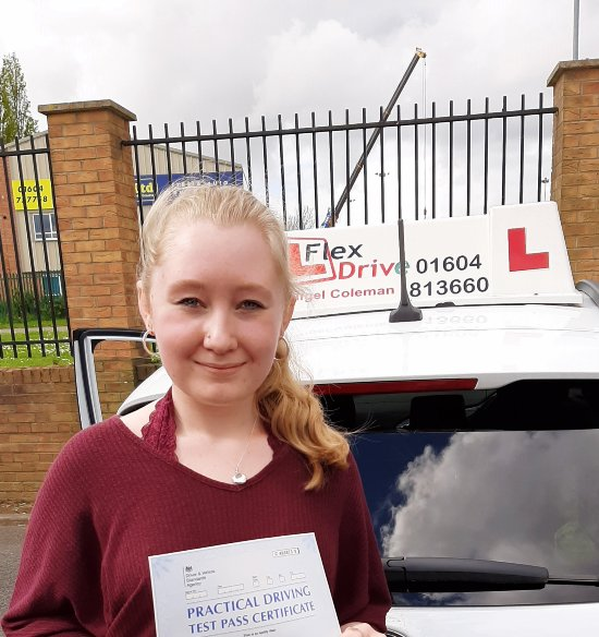 Driving Lessons in Kettering | Sophie passes 1st time with Flexdrive Driving School