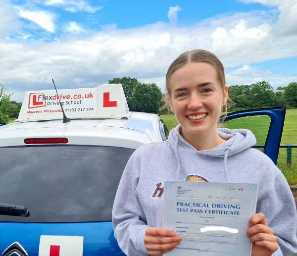 Driving Lessons in Wellingborough   Penny passed 1st time with Flexdrive Driving school