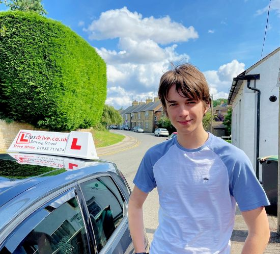 Driving Lessons in Kettering   Toby passed with Flexdrive Driving School