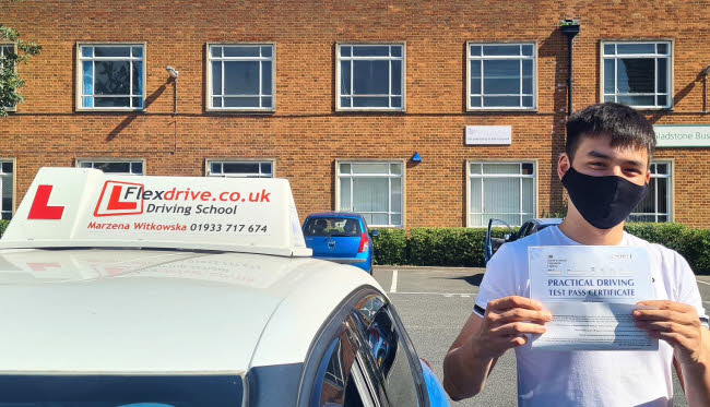 Driving Lessons in Northampton | Adrian passed with Flexdrive Driving School