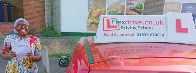 Automatic Driving Lessons in Wellingborough | Lily Jais-obi passes with Flexdrive Driving School
