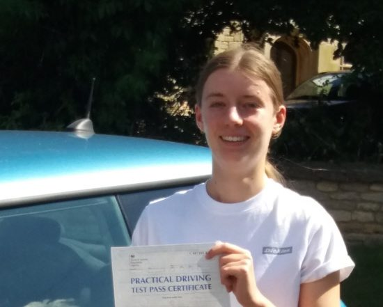 Driving Lessons in Kettering   Megan Passed with Flexdrive Driving School