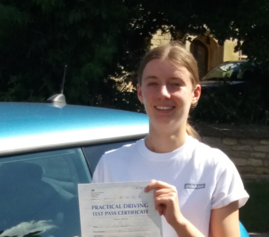 Driving Lessons in Kettering | Megan Passed with Flexdrive Driving School